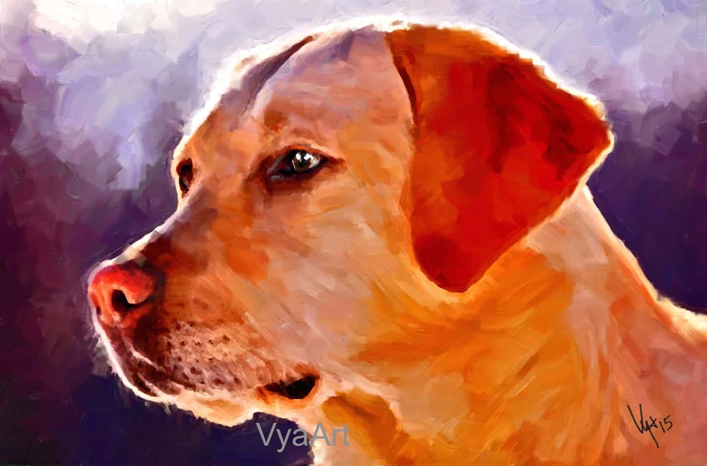 Custom Digital Portrait original artwork based on your pet/'s photo!