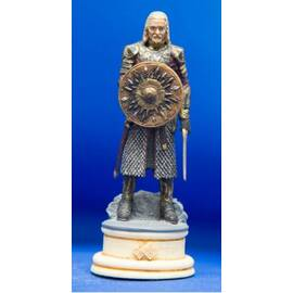 Eaglemoss Lord of the rings chess 09 Theoden white knight-