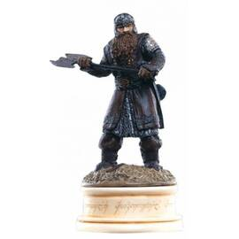 Eaglemoss Lord of the rings chess 11 Gimli white pawn-