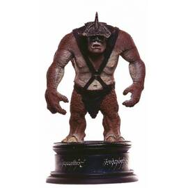 Eaglemoss Lord of the rings chess 39 Siege Troll black pawn-