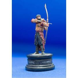 Eaglemoss Lord of the rings chess 47 Haradrim Archer black pawn-