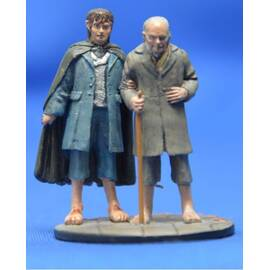 Lord of the rings Eaglemoss 082  Frodo & Bilbo at the Grey Havens-
