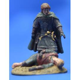 Lord of the rings Eaglemoss 094  Merry and Pippin at the Pelennor Fields-