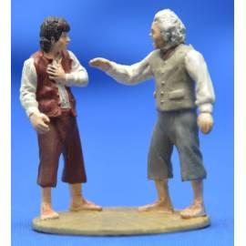 Lord of the rings Eaglemoss 127  Bilbo (Possessed) & Frodo at Rivendell-