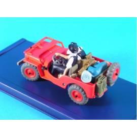En Voiture Tintin Atlas 07 Jeep rouge (Titiin au pays de l'or noir)-
