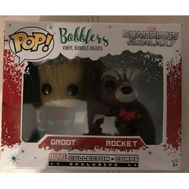 Funko Marvel Guardians of the galaxy Groot Rocket exclusive Collectors corp-