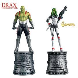 Marvel Chess Eaglemoss SPECIAL Drax The Destroyer & Gamora (White Bishops)-