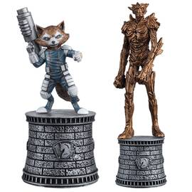 Marvel Chess Eaglemoss SPECIAL Groot & Rocket Raccoon (White Knights)-