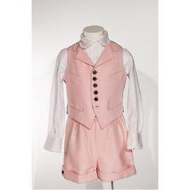 Gideon-Costume vest with pink hen foot pattern, standard cut-