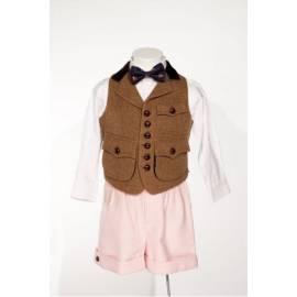 Gilles-Groom's vest in brown chevron-