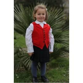 Grégoire-Red costume vest, standard cut-