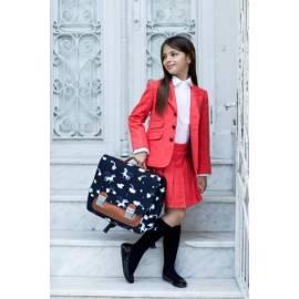 Julie-Pink skirt pleated salmon-