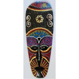 Masque de sable bleu aborigène 30cm-