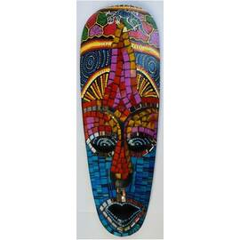 Masque aborigène 30cm avec mosaïques-