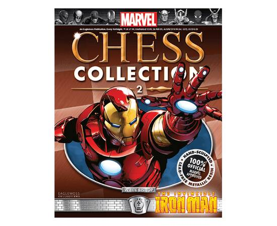 Marvel Chess Eaglemoss 02 IRON MAN (WHITE BISHOP)-