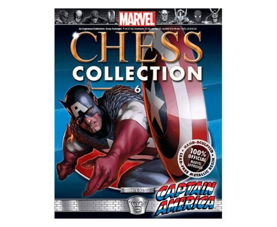 Marvel Chess Eaglemoss 06 CAPTAIN AMERICA (WHITE KING)-