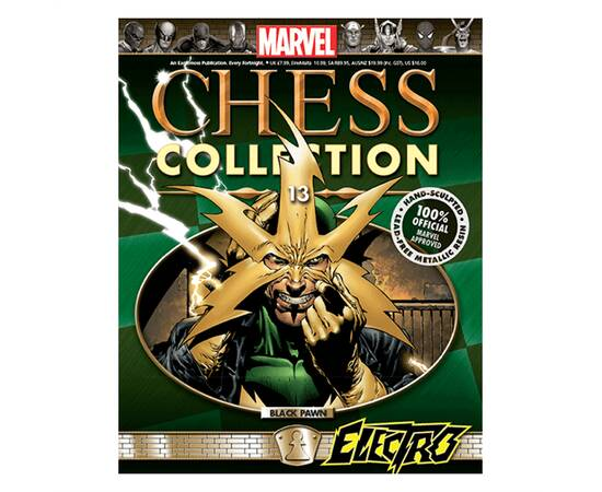 Marvel Chess Eaglemoss 13 ELECTRO (BLACK PAWN)-