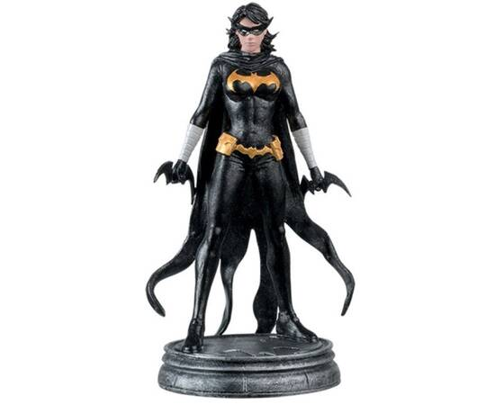 DC Chess Eaglemoss 28 Black bat white pawn-