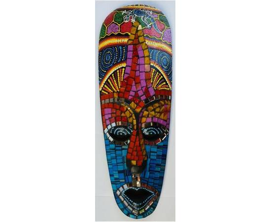 Aborigen Mask 30cm with Mosaics-