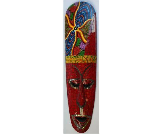 Aborigen Mask 50cm with Red Mosaics from Bali-